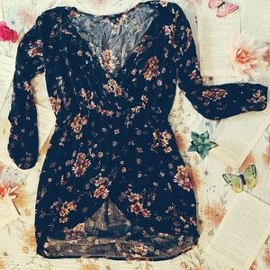 Floral Crossover Dress